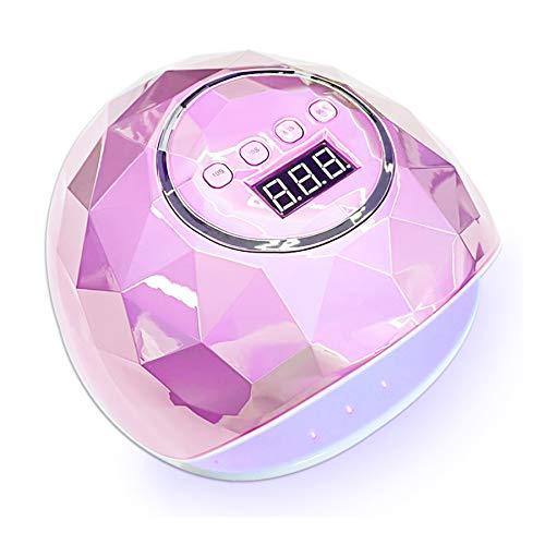 MODRYER LED UV Esmalte De Uñas, Que Se Utiliza para La Lámpara De Uñas Gel Esmalte De Uñas Secador De Curado, con Sensores Automáticos 4 Temporizador, Fácil De Llevar,Pink