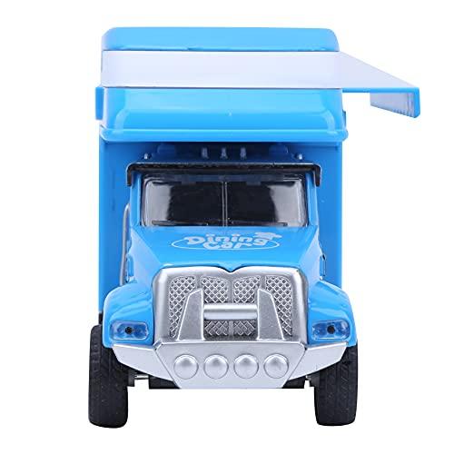 LFLF (Azul Paquete De Camiones De Comida Pull Back Coche Multifuncional Aleación Niños Niños Modelo Modelo Modelo De Camión De Comida