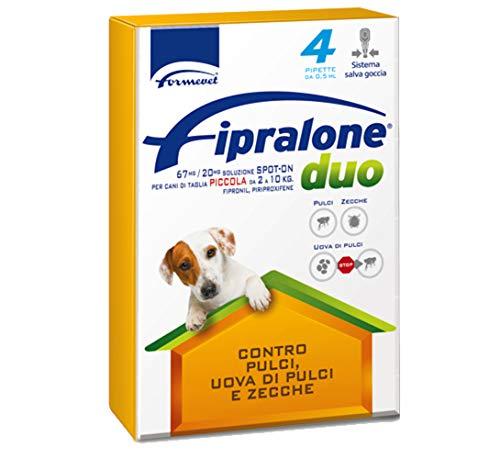 fipralone Duo pour chiens de petite taille de 2à 10kg Fipronil, piriproxifene