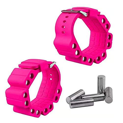 XJZSD 2 Stück/Silikon verstellbares Gewicht Yoga Fitness Armband Handgelenk, Handgelenk Riemen Arm Trainingsarmband, Fitness intensivieren, Bewegung, Aerobic, Yoga, Fitnessstudio.