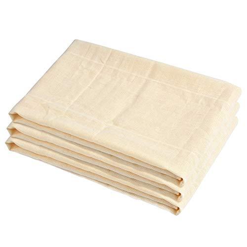 ATPWONZ 3 PCS riutilizzabile Filtro Tessuti 100% Cotton-filtro Ideale per latte di mandorla, succhi di frutta e frullati di frutta, bevande vegetali, ect