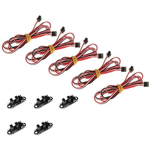 Huante 5 Lotti di Finecorsa Ottico con 3 Pin XH2.54 Controllo della Luce Ottica Fine Corsa Fotoelettrico per Stampante 3D Accessori DIY