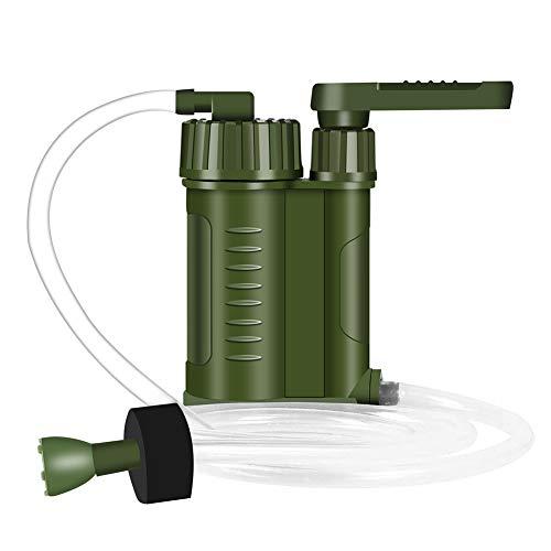 Filtro de Agua Portátil, Personal Sistema de Filtración de Agua Purificador de Agua para Supervivencia, Senderismo, Acampada, Prevención de Crisis y Emergencias