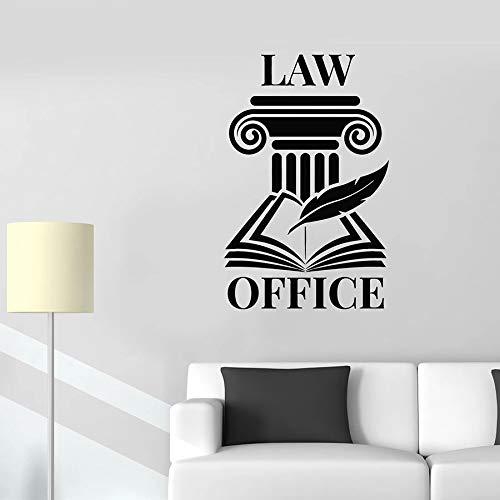 Logo Muursticker Open Boek Pen Lettering Law Firm Office Interieur Decor Vinyl Deur Venster Stickers Creatieve Verwijderbare muurschildering