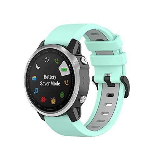 Gransho Compatible con Garmin Fenix 6S Pro/Fenix 6S / Fenix 5S/5S Plus (42MM) Correa de Reloj, Banda de Reemplazo Silicona Suave Sports Pulsera (Pattern 3)