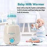 Maliyaw Babykost- und Flaschenwärmer, Mehrzweck-Babymilchwärmer mit Sterilisationsmodus - passend für alle gängigen Babyflaschen