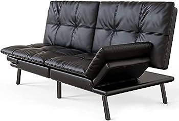IULULU Convertible Memory Foam Couch Futon Sofa Bed