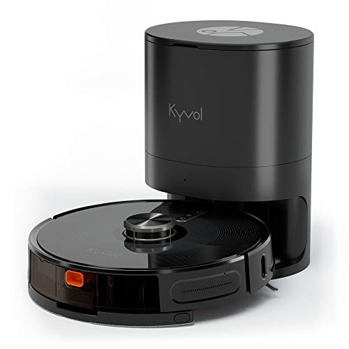 Kyvol Cybovac S31 Robot Vacuum and Mop, Automatic Dirt Disposal, Lidar Navigation, 3000Pa Suction Robotic Vacuum Cleaner with Mapping, 240 mins Runtime, Works with Alexa, Ideal for Pet Hair, Carpets Dining Features Kitchen Robotic Vacuums