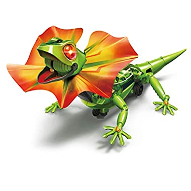 Elenco Teach Tech King Lizard, Interactive Lizard Robot Kit, STEM Creative Toys for Kids 10+