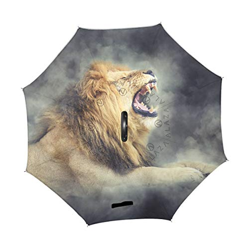 Fantastic Deal! TropicalLife Double Layer Inverted Umbrella Male Lion Reverse Umbrella