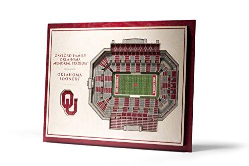 NCAA Oklahoma Sooners 5-Layer Stadiumviews 3D Wall Art, Standard Version, 17
