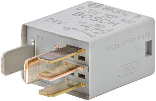 Bosch 0332207402 Micro relé de 24 V 10 A, IP5K4, temperatura de funcionamiento de -40° a 100°C, relé de 5 pines con diodo