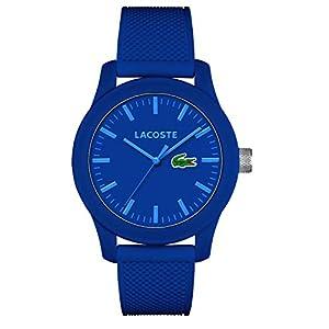 Lacoste Homme Analogique Classique Quartz Montre avec Bracelet en Silicone 2010765 6 Bijoutier Boutique Montre homme Verre minéral Bracelet Silicone Bleu