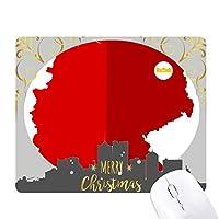 ドイツの国旗の地図の赤いパターン クリスマスイブのゴムマウスパッド