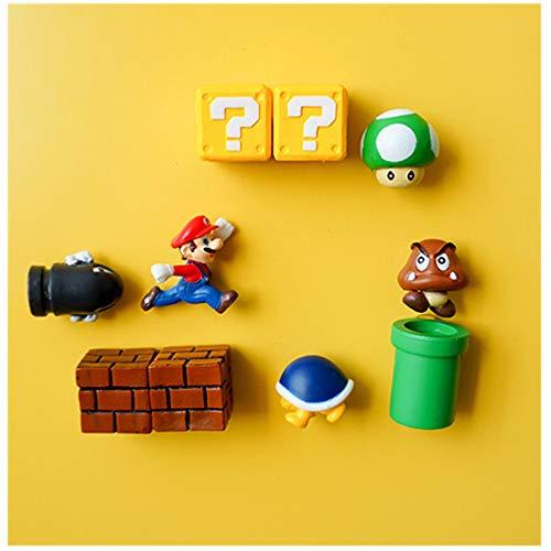 Super Mini Mario Bro Kühlschrankmagnet 10er | Küchen-dekorativer Magnet