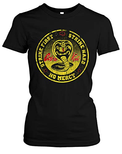 Cobra Kai Damen T-Shirt | Spruch Dojo Karate Kid MMA Mr. Miyagi Girlie | M4 (S)