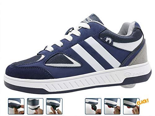 Breezy Rollers 2180180, Rollschuh, Schuhe mit Rollen, 2-in-1 Kinderschuhe, Skateboardschuhe, sportliche Sneakers (36)