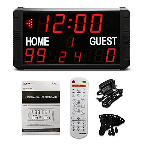 GAN XIN 14/24S Shot-clock LED Tabellone segnapunti elettronico digitale per pallacanestro Baseball Calcio Multisport Scoreboard Timer