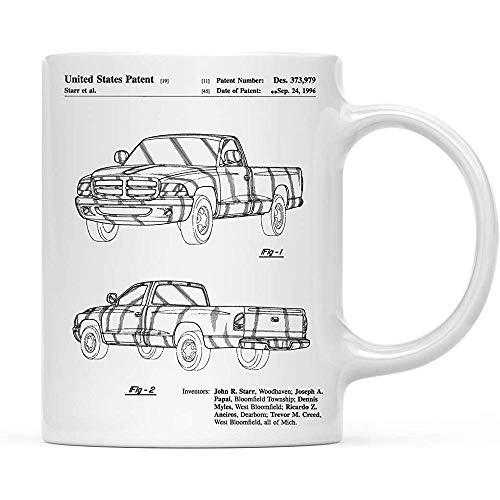 Kaffee-Haferl Geburtstag Weihnachtsgeschenk, Dodge Ram 1997 Patent 1 Cup, 1-Pack, Dodge Truck, Auto-Enthusiasten, Truck Wandkunst, Man Cave