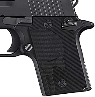Cool Hand G10 Grips for Sig Sauer P938, Screws Included, Punisher Skull Texture