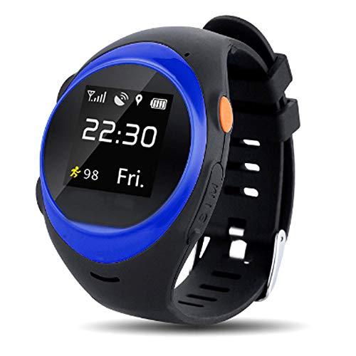 CSJD Vieil SmartWatch Telefoontracksysteem WiFi Global GPS Alarmsysteem Alarm Intelligent Assistant blauw