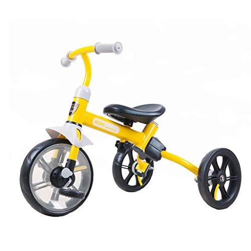CAIMEI Entrenamiento M de Bicicleta Cochecito Triciclo Coche de Doble Uso Bebé Equilibrio Coche Bicicleta para Niños Scooter para Niños Triciclo Portátil Regalos de Cumpleaños, Rosa,Amarillo