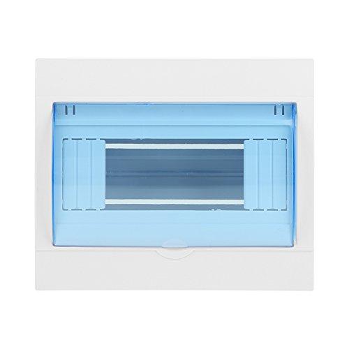 Caja de Distribución Cubierta Transparente de Plástico Caja de Protección de Distribución de Energía Para Disyuntor Interior En La Pared Caja de Disyuntor Impermeable a Prueba de Polvo (5-8 Vías)