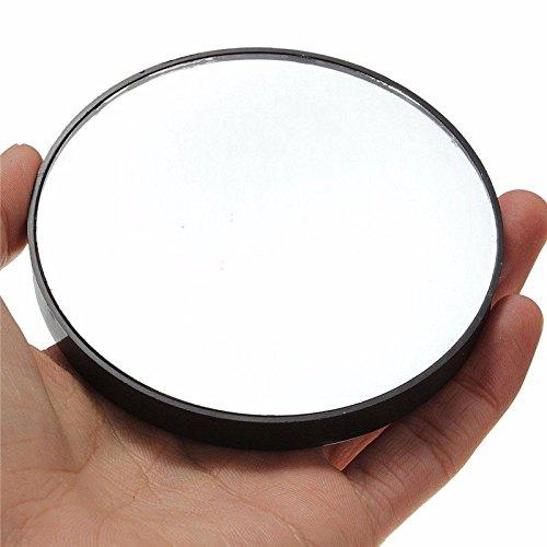 Miroir grossissant 10x à ventouse compact noir