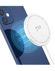 Seneo Caricabatterie Wireless, Caricatore Wireless Rapido Compatibile con Ricarica Mag-Safe, Pad di Ricarica Wireless per iPhone 12/12 mini/12 Pro/12 PRO Max/AirPods PRO, Cavo Porta USB da 3,3 Piedi