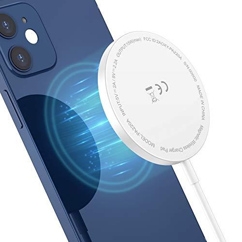 Seneo Cargador Inalámbrico Magnético, Cargador Inalámbrico Rápido Compatible con Cargador Mag-Safe Compatible con iPhone 12/12 mini/12 Pro/12 Pro MAX/AirPods Pro (Cable de Puerto USB de 3.3 Pies)