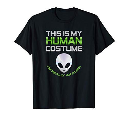 Disfraz de Alien Extraterrestre Grupos Hombre Mujer Niños Camiseta