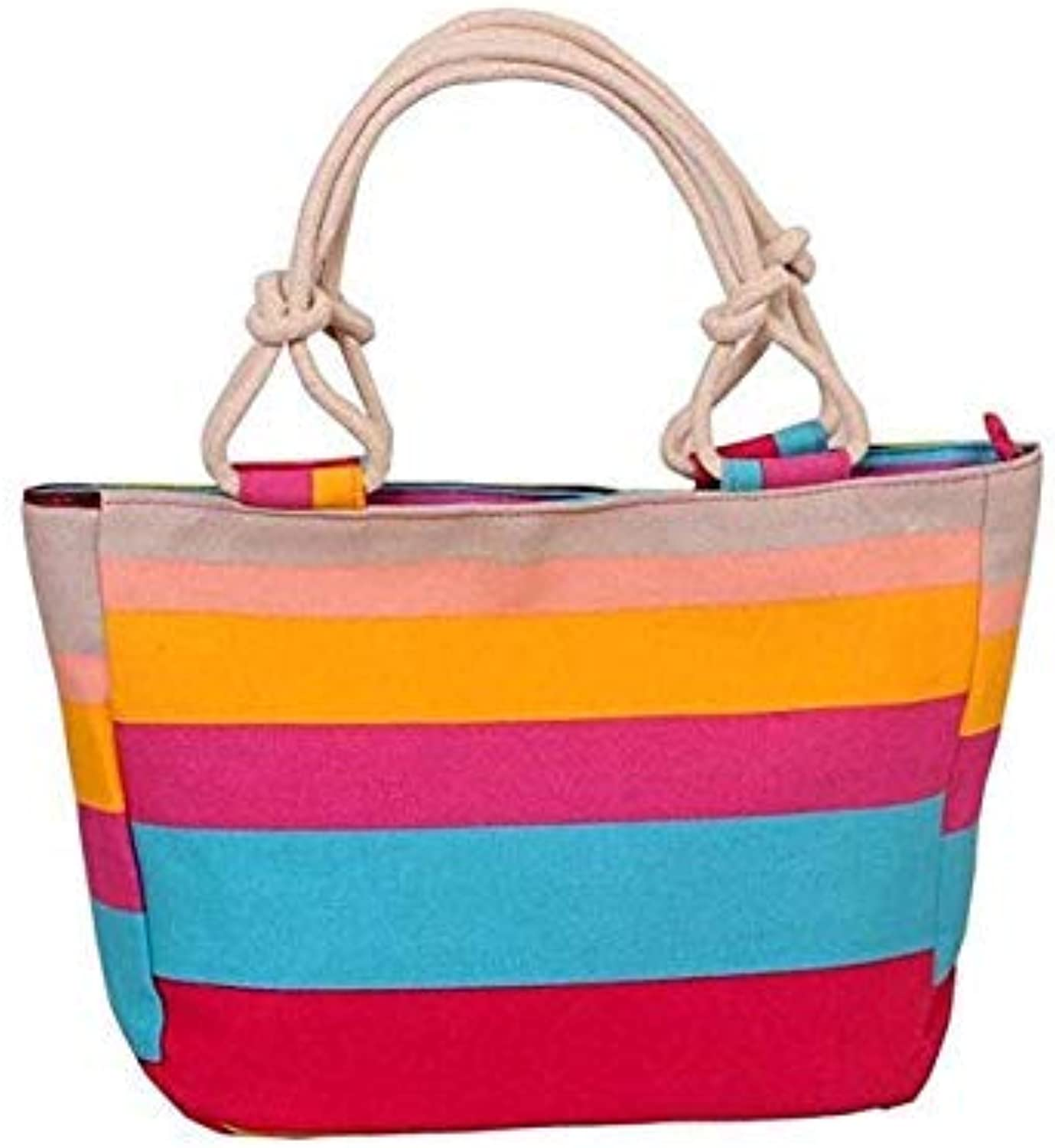 Fashion Folding Women Big Size Handbag Tote Ladies Casual Flower Printing Canvas Graffiti Shoulder Bag Beach Bolsa Feminina Pink red Strap
