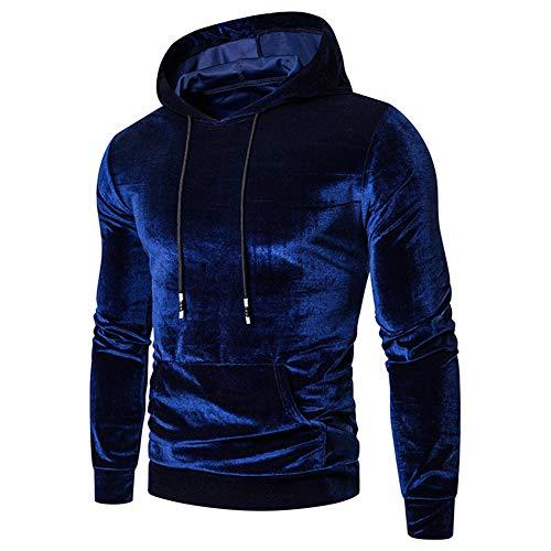 Mr.BaoLong&Miss.GO Herren Samtpullover European Code Herren Lässig Kapuzenpullover Mantel Pullover Pullover