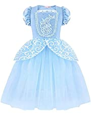 Yalla Baby Girls Dress Costume for Kids Girls Princess Dress Up with Free Accessories - 90-140 cm 3-12 Years Birthday Party Cosplay Outfits