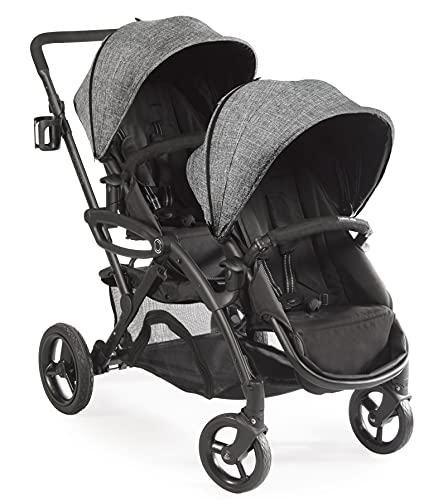 Contours Options Elite Tandem Double Toddler & Baby Stroller, Adjustable Seating, Lightweight Frame, Graphite Grey