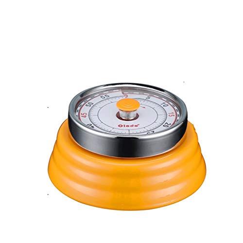 JJY Kitchen Timer Digital Duración de la Cocina mecánico con Resorte Libre de la batería del Soporte Trasero for cocinar, Clase, Cuarto de baño, Maestros, niños (Color : Orange)