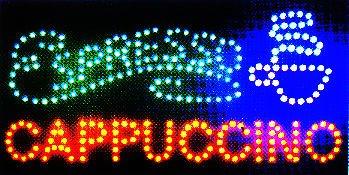 E-ONSALE Ultra Bright LED Neon Light Animated Coffee Espresso Cappuccino Sign L45