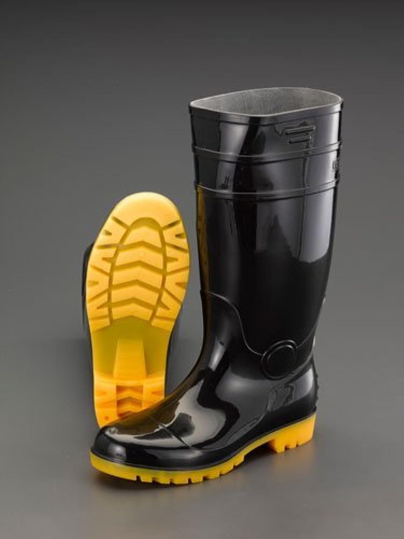 エスコ 28.0cm安全長靴(耐油底?黒) EA998RB-280