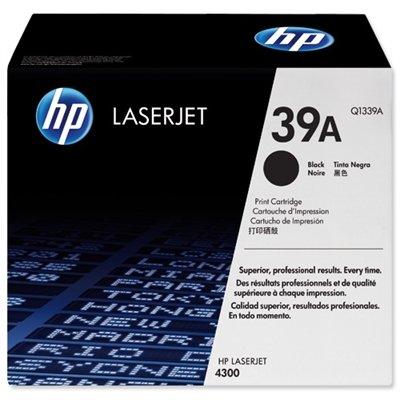 Hewlett Packard [HP] nº 39 A cartucho de tóner láser 18000pp color negro Q1339A