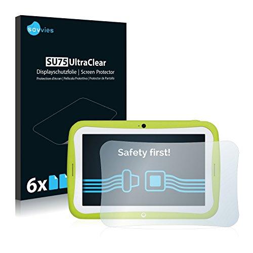 Savvies 6X Schutzfolie kompatibel mit Blaupunkt 4Kids Bildschirmschutz-Folie Ultra-transparent