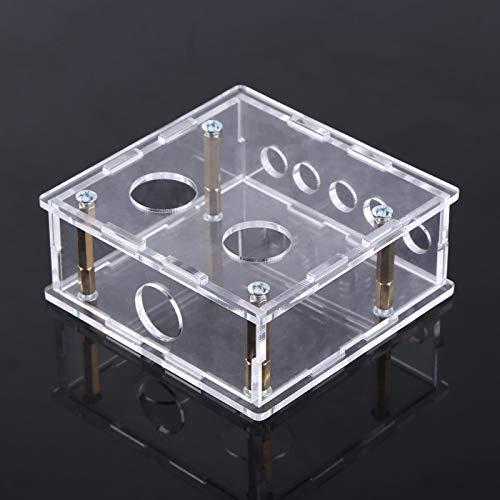 Caja de acrílico de la carcasa del tubo preamplificador caso preamplificador Shell protegido para 6J1 tubo de válvula pre-amplificador de la junta