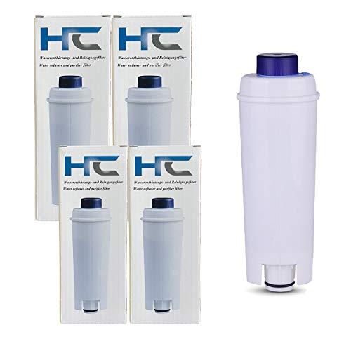Wasserfilter für De'Longhi Kaffeemaschinen DLSC002 und geeignet für Maestosa, Primadonna, Magnifica, Dinamica, Eletta & ECAM ESAM ETAM EC680 EC800 EC820 EC850 EC860, BCO400 BCO410 BCO420 (4er Pack)
