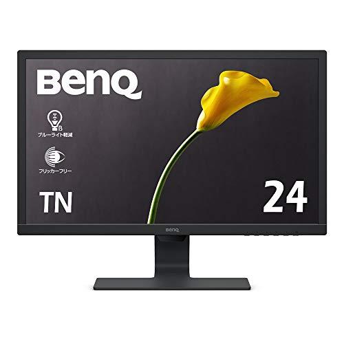 BenQ モニター ディスプレイ GL2480 24インチ/フルHD/TN/非光沢/1ms/75Hz/輝度自動調整/ブルーライト軽減/フリッカーフリー/HDMI/D-sub/DVI