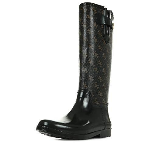 Guess Eberto Stiefel Damen Schwarz/Braun - 35 - Klassische Stiefel Shoes