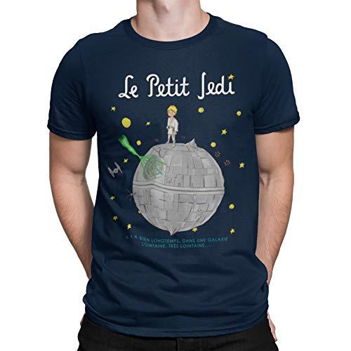 Camisetas La Colmena Le Petit Jedi (Saqman) Camiseta, Azul Marino, XL