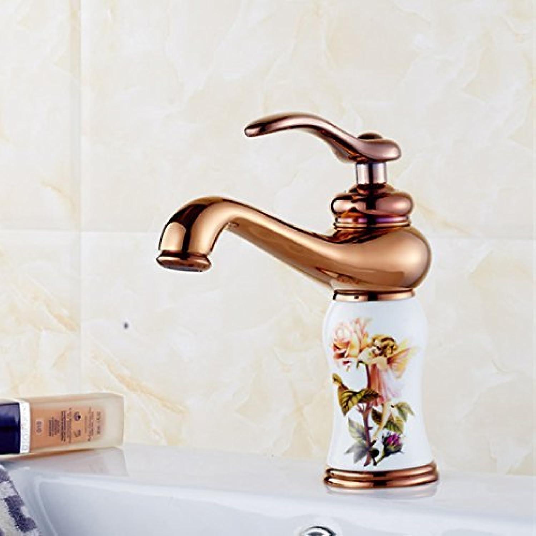 Wei Bowlder massiv Messing Waschbecken Mischbatterie mit l Bronzeoberflche Badezimmer Waschbecken Wasserhahn, E