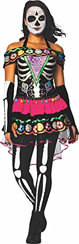 Charades Women's Day of The Dead Costume Adult Sized, Shown, Small