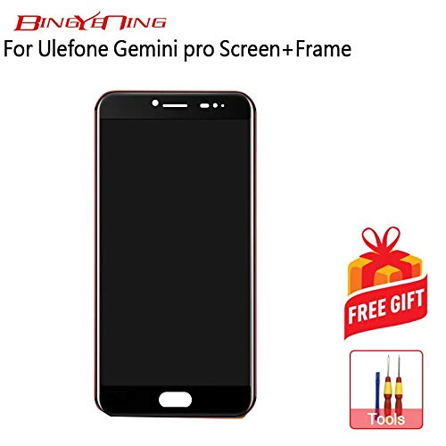 AiBaoQi For Ulefone Gemini Pro/Ulefone T1 LCD Display+Touch Screen +Frame Assembly Repair Part (Black)