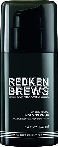 Redken Brews Molding Paste For Men, High Hold, Natural Finish, 3.4 Ounce