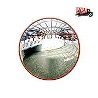 MJK 屋外交通広角レンズ、安全ミラー、球面ミラーアングル地下ガレージ、リバースミラー道路交通広角ミラー凸面死角ミラー,45cm